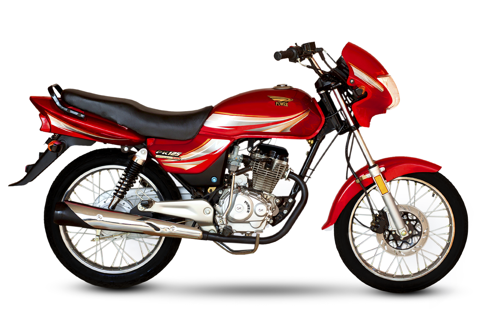 power 125cc red deluxe